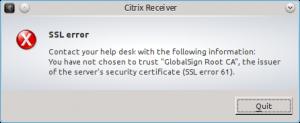 SSL error 61