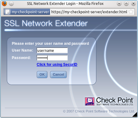 Check Point SSL Network Extender | kenfallon com
